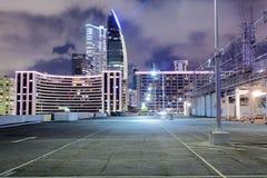 Car park at night Royalty Free Stock Photo