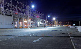 Car park at night Royalty Free Stock Photography