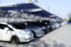 Car park outdoor  blur Royalty Free Stock Photography