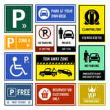 Car Park Parking Signboards Stock Photography