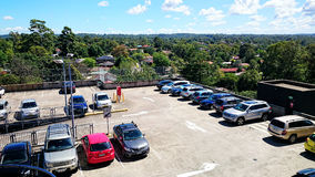 Car Park on Roof Royalty Free Stock Images