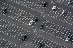 Car park seen from above Stock Photo