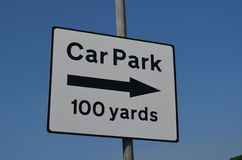 Car park sign. Royalty Free Stock Photo