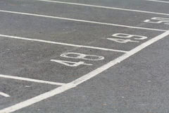 Car park space numbers Stock Photography