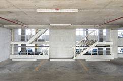 Car park with stairs Royalty Free Stock Photo