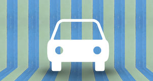 Car park symbol on blue pastel wall. Use as background royalty free illustration