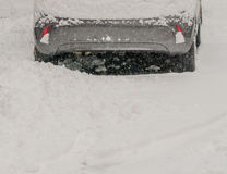 Car parked covered in snow Royalty Free Stock Photo
