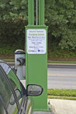 Car Parked in an Electric Vehicle Charging Station Royalty Free Stock Images