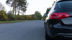 Car Parked on the side of the road -drive safely concept Royalty Free Stock Photography