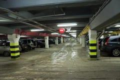 Car parking. Driving on vehicle traffic urban scene Royalty Free Stock Image