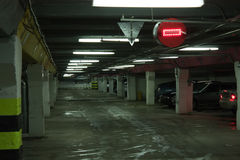 Car parking. Driving on vehicle traffic urban scene Royalty Free Stock Images