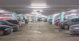 Car parking. Underground garage, parking lot in a basement of a building Stock Image