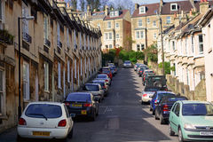 Car parking along the side road Stock Photography