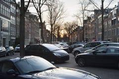 Car parking. Amsterdam, Holland Stock Image