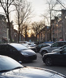 Car parking. Amsterdam, Netherlands Royalty Free Stock Images