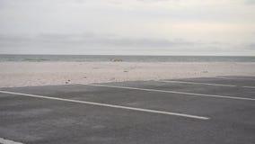 Car parking area in Pensacola, Florida. Beach Area. Empty Road stock footage
