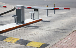 Car Parking. Barrier on the car parking royalty free stock photo