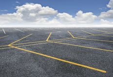 Car parking with blue sky Royalty Free Stock Photography