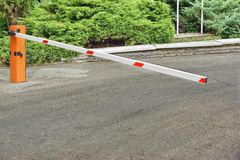 Car Parking Control System, Automatic Rising Arm Barrier Stock Photography