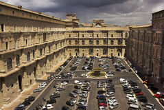 Car parking in the courtyard of the Vatican Royalty Free Stock Photography
