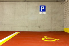 Car parking for disabled stock photos
