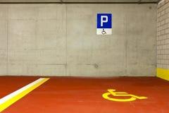 Car parking for disabled Stock Photos