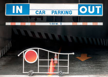 Car parking entrance Royalty Free Stock Image