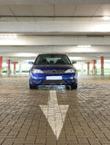 Car in parking garage Royalty Free Stock Image
