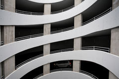 Car parking garage spiral driveway up Stock Photo