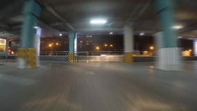 Car on parking stock footage