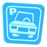 Car parking icon, cartoon style Stock Photography