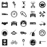 Car parking icons set, simple style Royalty Free Stock Photo