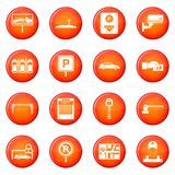 Car parking icons vector set Stock Image