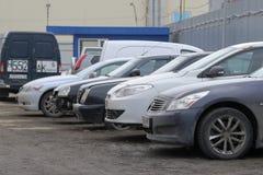 Car parking in Kaluga Stock Photo