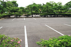 Car parking lot. With white mark in the park Royalty Free Stock Images