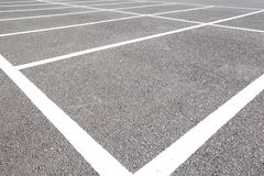 Car parking Lot. At outdoor With White Marking Stock Images