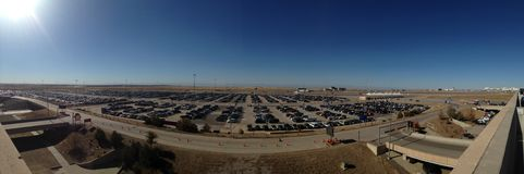 Car parking lot at Airport in Denver.  Royalty Free Stock Images