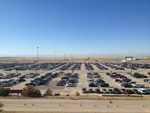 Car parking lot at Airport in Denver.  Stock Photo