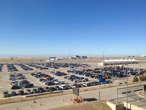 Car parking lot at Airport in Denver.  Stock Photography