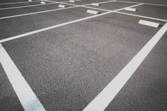 Car parking lot. Empty space at outdoor car parking lot Royalty Free Stock Photo