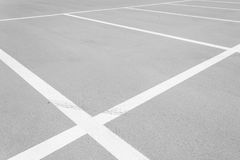 Car parking lot. Empty space of outdoor car parking lot Royalty Free Stock Photography