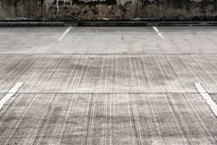 Car parking lot. Empty car parking lot with white mark Royalty Free Stock Photos