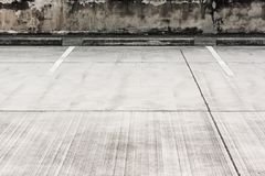 Car parking lot. Empty car parking lot with white mark Royalty Free Stock Image