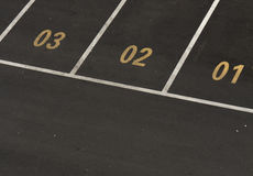 Car parking lot with numbers Royalty Free Stock Images