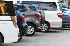 Car parking lot Stock Images