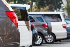Car parking lot Stock Image