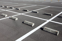 Car parking. With white mark Stock Photo