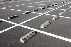 Car parking. With white mark Stock Images