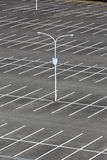Car parking lot. With white mark, light pole Royalty Free Stock Photo