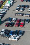 Car parking lots from above royalty free stock photography